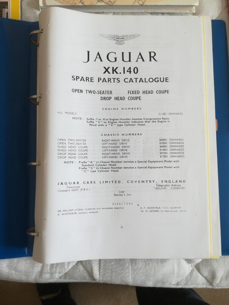 Four Classic car books/parts manual Jaguar XK range | in Hadleigh, Suffolk  | Gumtree
