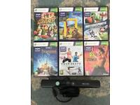 Xbox 360 games and Kinect with 6 games