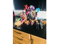 Used condition bratz dolls and others