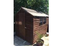 8x6 garden shed with single window