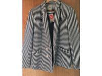 Navy and cream stripe jacket