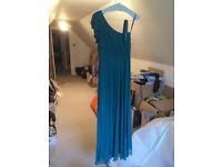 Teal Dessy Bridesmaid dress