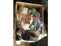 Full box baby clothes mix First size 0/3 3/6 6/9 Some new some used ones 34 items
