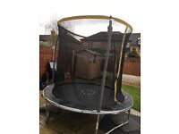 Trampoline with enclosure 8ft,great condition