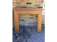 Solid oak fireplace