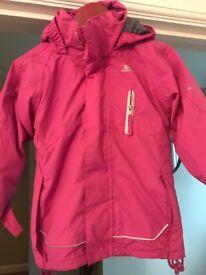 Trespass girls winter jacket age 3-4