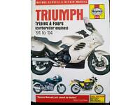 Haynes Manual Triumph Motorbike Triples & Fours 91 to 04 Carburettor Engines