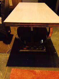 modern chrome- granite new dining table
