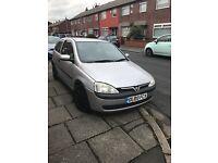 Vauxhall corsa 1.2 petrol Year 2003 long mot tax £350 or swap