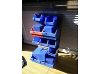 Blue and red Garage Tool Organiser