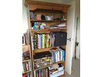 2 Large pine bookcases