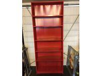 Red bookshelf