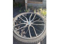Replica bmw 19 inch alloys with tyres
