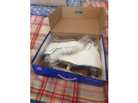Riedell Emerald 119 white ice skates Riedell size: 9 1/2 (UK 8 shoe size) with wide width.