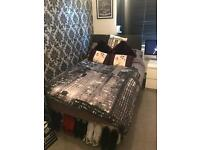 3/4 Divan bed with draws, mattress and headboard!