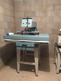 A1, 105x75cm, Pneumatic Semi Automatic Large Format Industrial Heat Press - With Compressor & Stock