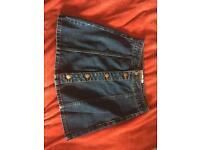 Denim mini skirt size 6 open to offers