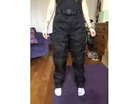 Texpeed waterproof armoured motorcycle trousers