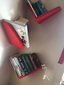 Ikea red book shelves