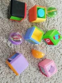 Fisher price sensory cubes/balls