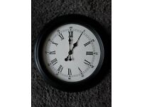 Black Round Wall Clock
