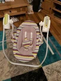 Baby battery powered swing