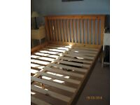 DOUBLE BED FRAME IN PINE