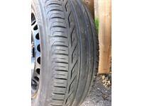 Almost full tread 15inch steel wheel & 195/65 R15 tyre