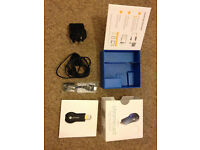 Google Chromecast boxed with all accessories (Turn normal TV into Smart TV)
