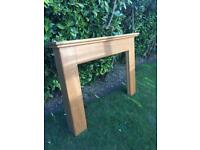 Subtle styled FIRE SURROUND solid OAK WOOD