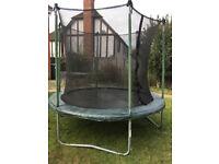8ft circular trampoline & safety net