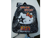 KIZZ orthentic HELLO KITTY back pack new and tagged for the little rocker in all of us !