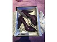 Miss sixty purple shoes open toe with buckle