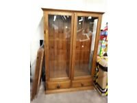 Large Wooden Glass Display Cabinet