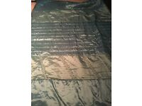 Single Bed Cover Or Chair / Bed Throw in Jade Green With Sequin Detail