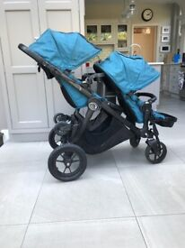 Baby jogger city select double stroller plus accessories