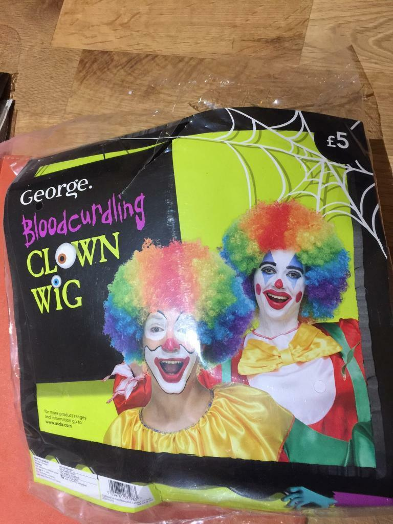 Clown Wig and Evil Clown Outfit