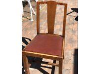 Antique oak chair.