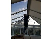 Elizabethan Style White Polycarbonate CONSERVATORY ROOF Ridge and 2 Hips