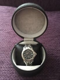 MENS TAG HEUER WATCH IN ORIGINAL LEATHER CASE