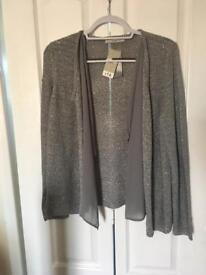 NEW Size 16 sequin waterfall cardigan