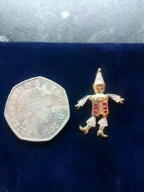 9ct Gold Hallmarked Real Rubies & Diamonds Clown Pendant Will take £80 on Thursday 16th Only...