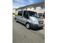 Ford transit factory crew van 6 seater trend