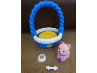 Little Live Pets Sweet Talking Puppy with Basket Pal Play Set As New £8