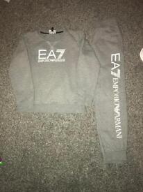 Grey ea7 armarni tracksuit age 7-8