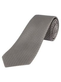 New Grey tie dotted by Loviena for Men