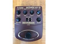 Behringer ADI21 V-Tone Acoustic Driver DI Box guitar effects pedal
