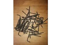 Job lot, 50 off farnell 3mm allen keys hardened