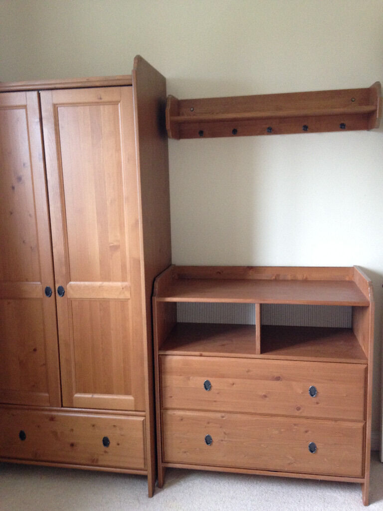 Nursery furniture set including Cot Bed, Wardrobe, Changing unit ...