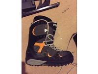Vans snowboard boots, size 9